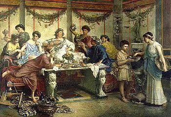 banchetto antica roma